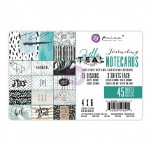 "Prima Marketing Zella Teal 4""x6"" Journaling Note Card Pad 595500"