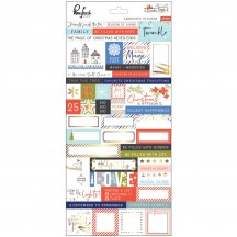 Pinkfresh Studio December Days Cardstock Christmas Stickers PFRC5000817