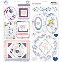 Pinkfresh Studio Indigo Hills 2 Chipboard Stickers PFRC500718