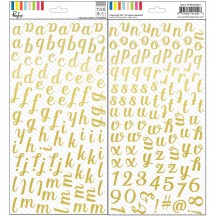 Pinkfresh Studio The Mix No. 1 Foiled Alpha Stickers PFRC500916