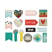 Simple Stories Planner Life In Color Plastic Decorative Clips 5036