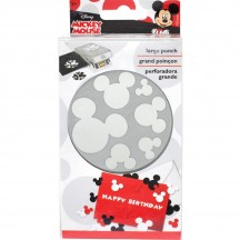 EK Success Confetti Mickey Ears Large Stackable Punch 51-80002