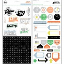 Pinkfresh Studio A Case Of The Blahs Cardstock Stickers PFCB300518