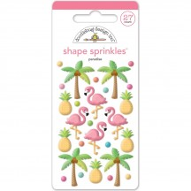 Doodlebug Fun in the Sun Tropical Shape Sprinkles Enamel Shapes 5207