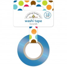 Doodlebug Puppy Love Bouncy Balls Decorative Washi Tape 5224