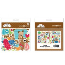 Doodlebug Puppy Love Odds & Ends Die-Cut Cardstock Ephemera 5245