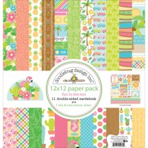 "Doodlebug Fun In The Sun 12""x12"" Paper Pack 5289"