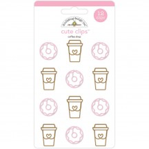 Doodlebug Cream & Sugar Coffee Shop Cute Paper Clips 5481