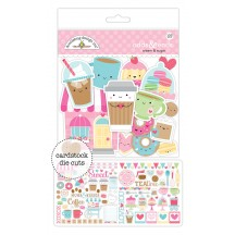 Doodlebug Cream & Sugar Odds & Ends Die-Cut Cardstock Ephemera 5484