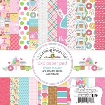 "Doodlebug Cream & Sugar 6""x6"" Paper Pad 24 Sheets 5530"