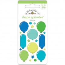 Doodlebug Dragon Tails Balloons Shape Sprinkles Enamel Shapes 5552
