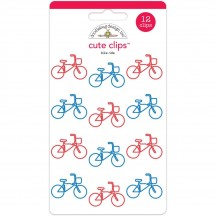 Doodlebug Bike Ride Bicycle Cute Paper Clips 5592