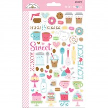 Doodlebug Cream & Sugar Mini Icons Cardstock Stickers 5705