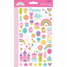 Doodlebug Fairy Tales Mini Icons Cardstock Stickers 5710