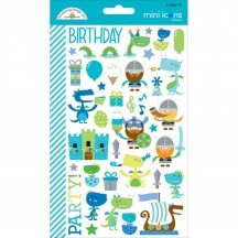 Doodlebug Dragon Tails Mini Icons Cardstock Stickers 5711