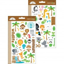 Doodlebug At the Zoo Mini Icons Cardstock Stickers 5712