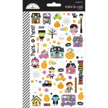 Doodlebug BooVille Mini Icons Halloween Cardstock Stickers 5767