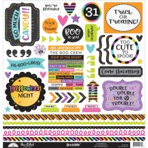 "Doodlebug BooVille This & That 12""x12"" Halloween Cardstock Stickers 5775"