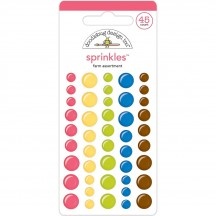 Doodlebug Down On The Farm Sprinkles Glossy Enamel Dots 5830