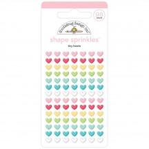 Doodlebug Tiny Hearts Sprinkles Enamel Shapes 5834