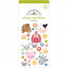 Doodlebug Down On The Farm - Farm Friends Shape Sprinkles Enamel Shapes 5838