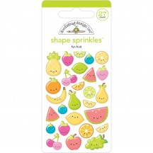 Doodlebug Sweet Summer Fun Fruit Shape Sprinkles Enamel Shapes 5840