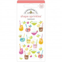 Doodlebug Sweet Summer Tropical Punch Shape Sprinkles Enamel Shapes 5842