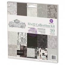 "Prima Marketing Salvage District 12""x12"" Collection Kit 584337"