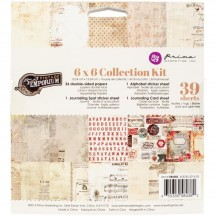 """Prima Marketing Vintage Emporium 6""""x6"""" Double-Sided Collection Kit 42 sheets 584382"""