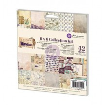 """Prima Marketing French Riviera 6""""x6"""" Double-Sided Collection Kit 39 sheets 584405"""