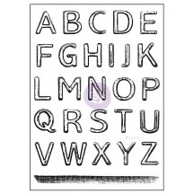 "Prima Marketing Salvage District Alphabet Letter 3""x4"" Clear Stamp Set 584719"