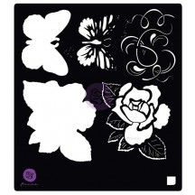 "Prima Marketing Tales of You & Me Flowers & Butterfly 6""x6"" Stencil Mask 585044"
