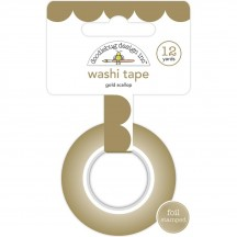 Doodlebug Hello Gold Scallop Decorative Washi Tape 5892
