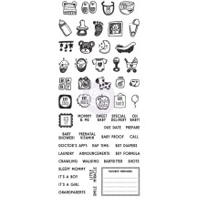My Prima Planner - Baby Clear Stamp 591588