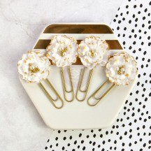 My Prima Planner Flower Paper Clips Gold Nougat 591809