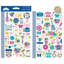Doodlebug Hello Mini Icons Cardstock Stickers 5912