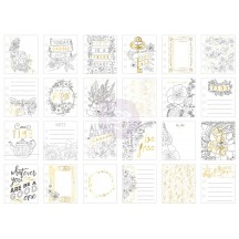 """My Prima Planner 3.5""""x4"""" Be Free Coloring Journaling Note Card Pad 592202"""