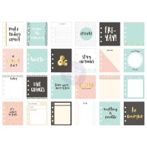 """My Prima Planner 3.5""""x4"""" Stay Curious Journaling Note Card Pad 592219"""