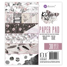 "Prima Marketing Rose Quartz 6""x6"" Double-Sided Paper Pad 30 sheets 592967"