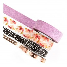 Prima Traveler's Journal Modern Floral Washi Tape 595173