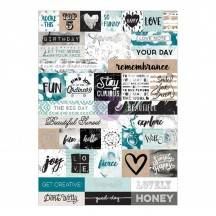 Prima Marketing Zella Teal Word Stickers 595586