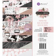 """Prima Marketing Amelia Rose 6""""x6"""" Double-Sided Paper Pad 32 sheets 596651"""