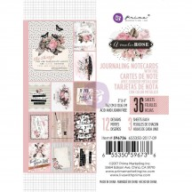 """Prima Marketing Amelia Rose 3""""x4"""" Journaling Note Cards with Foil 596736"""