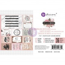 """Prima Marketing Amelia Rose 4""""x6"""" Journaling Note Cards with Foil 596842"""