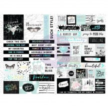 Prima Flirty Fleur Word & Quote Stickers 597658