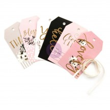 Prima Marketing Cherry Blossom Gold Foiled Tags 597863