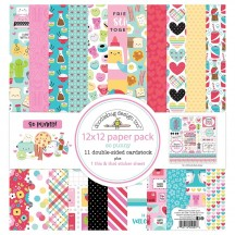"Doodlebug So Punny 12""x12"" Paper Pack 5994"
