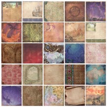 "DCWV Designer Glitter Cardstock 12""x12"" - Once Upon a Time 48 sheets"