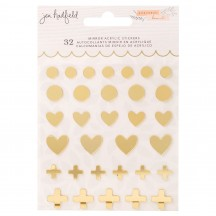 American Crafts Jen Hadfield Peaceful Heart Mirrored Acrylic Pieces 34008025