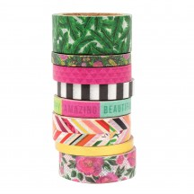 Pink Paislee 5th & Monaco Washi Tape Rolls 311022